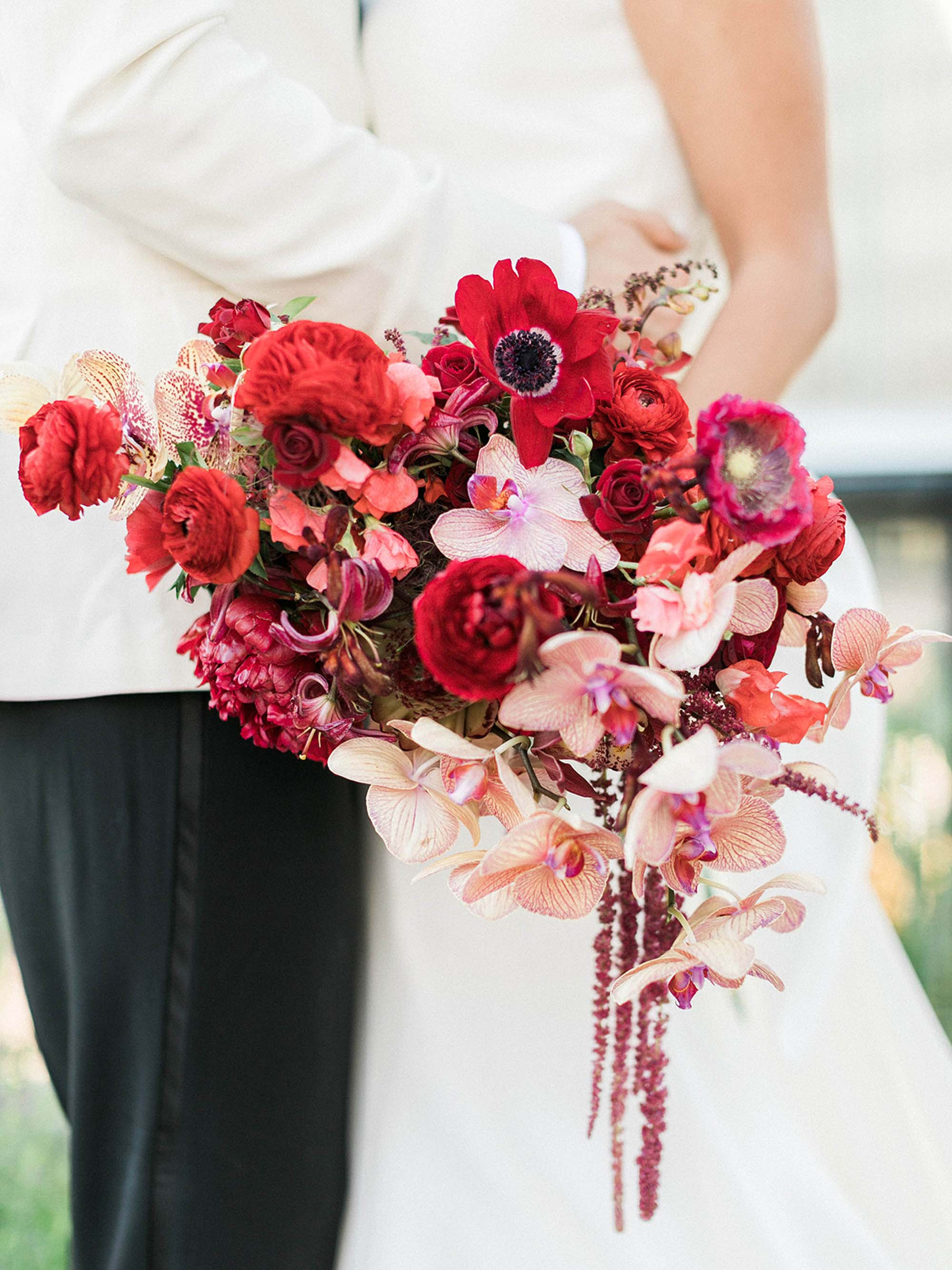 NYC Wedding Planner | Red Bridal Bouquet | NYC Wedding Planner