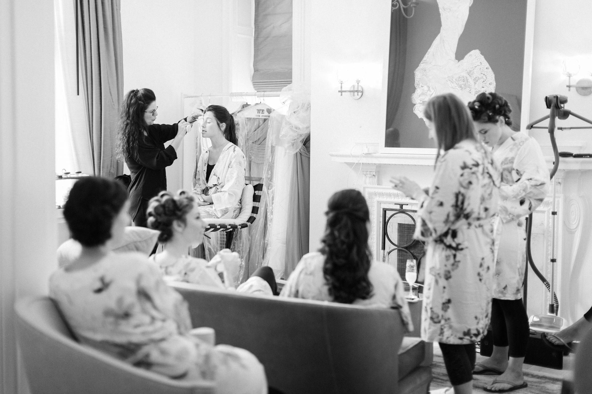 The Mansion at Natirar Wedding Bridal Suite NJ Wedding Planner