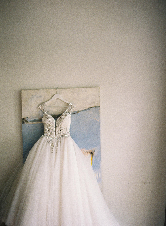 Custom Pnina Tornai Wedding Gown at The Mansion at Natirar