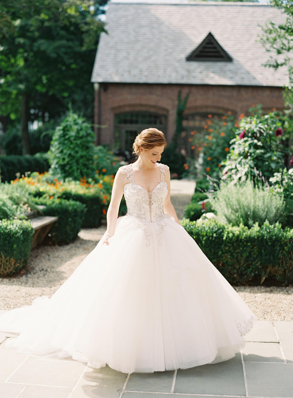 Custom Pnina Tornia Wedding Gown at the Mansion at Natirar
