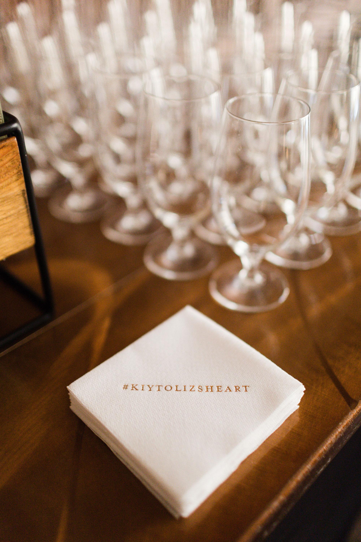 Wedding Hashtag Cocktail Napkins