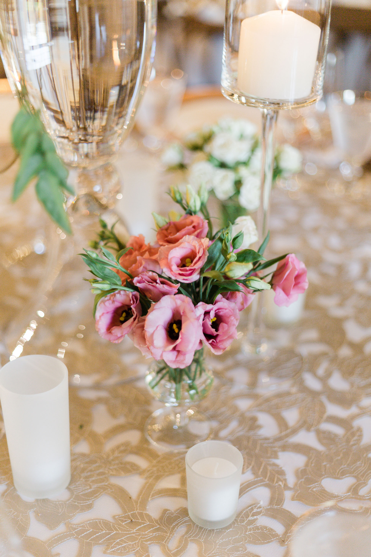 Wedding reception pink flower ideas